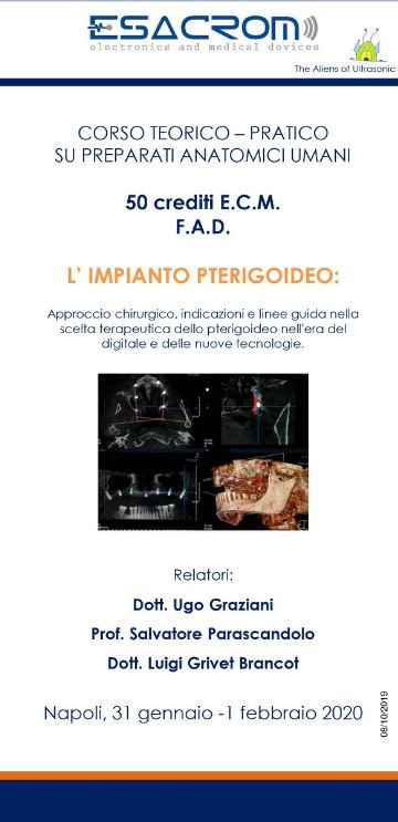 L'Impianto Pterigoideo: Approccio chirurgico, indicazioni e linee guida nella scelta terapeutica dello pterigoideo nell'era del digitale e delle nuove tecnologie
