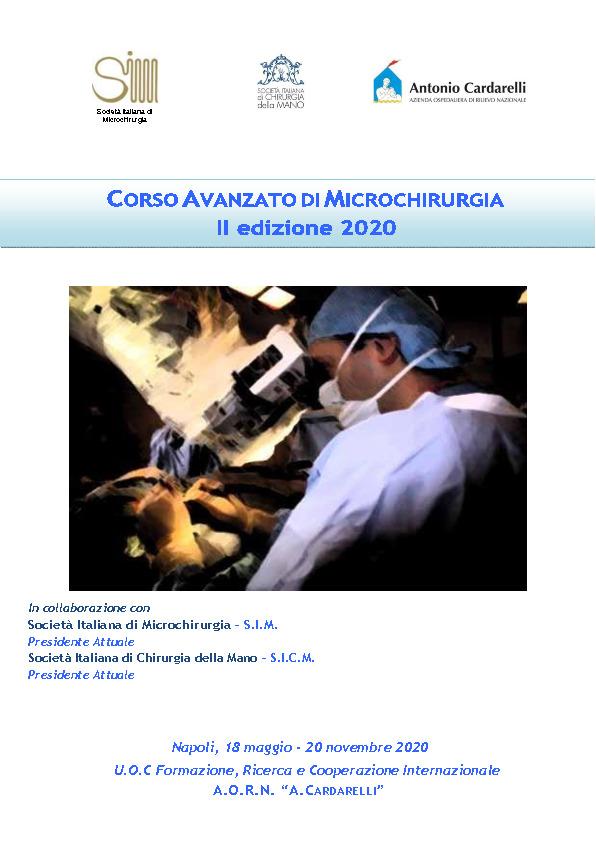 Corso Avanzato di Microchirurgia II Edizione 2020