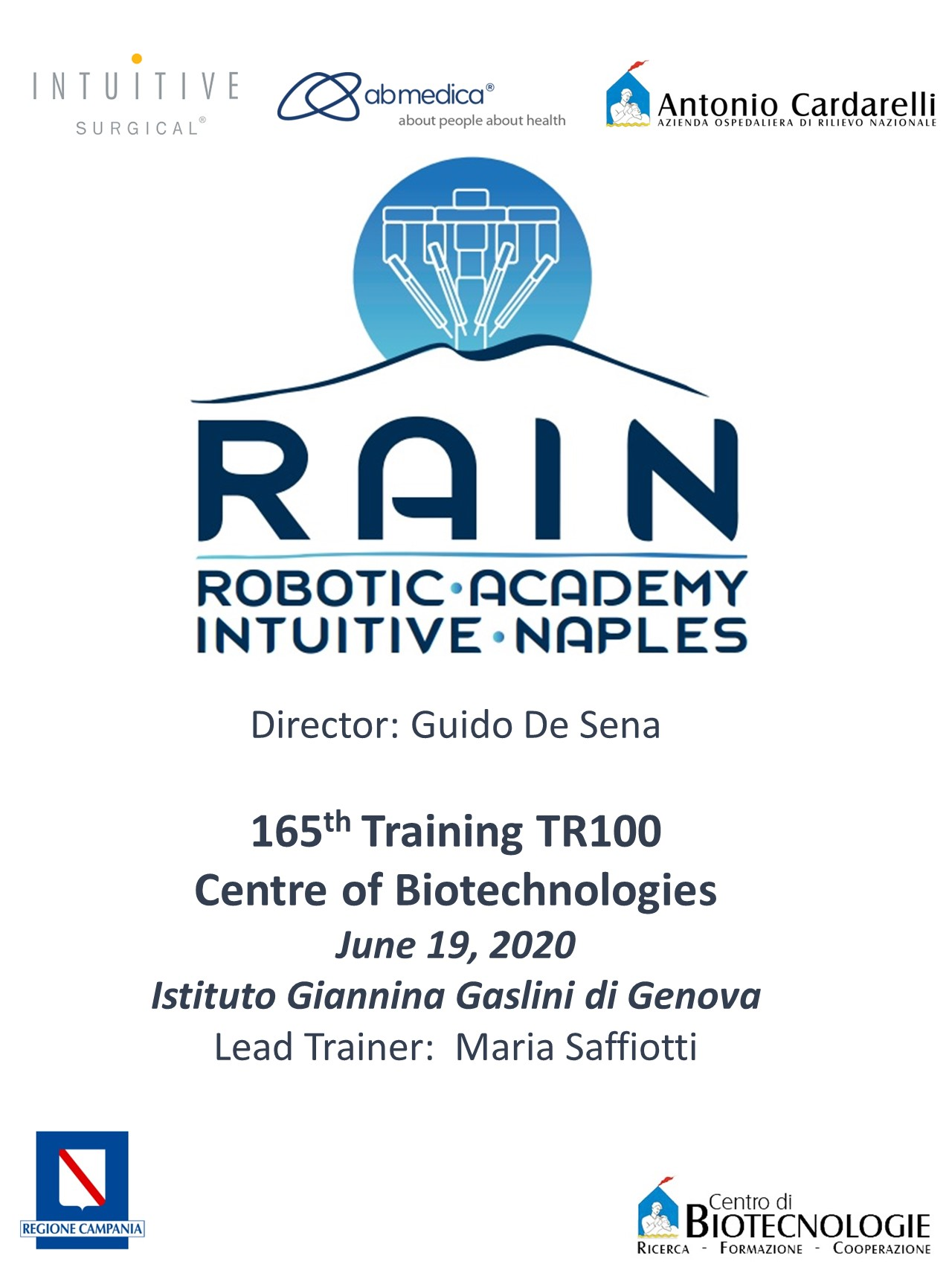 RAIN - Robotic Academy Intuitive Naples - 165th Training TR100