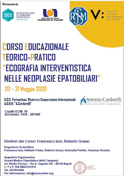 """CORSO EDUCAZIONALE TEORICO-PRATICO """"ECOGRAFIA INTERVENTISTICA  NELLE NEOPLASIE EPATOBILIARI"""""""