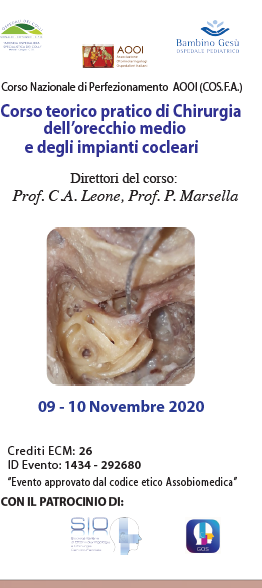 Corso teorico pratico di Chirurgia dell'orecchio medio e degli impianti cocleari