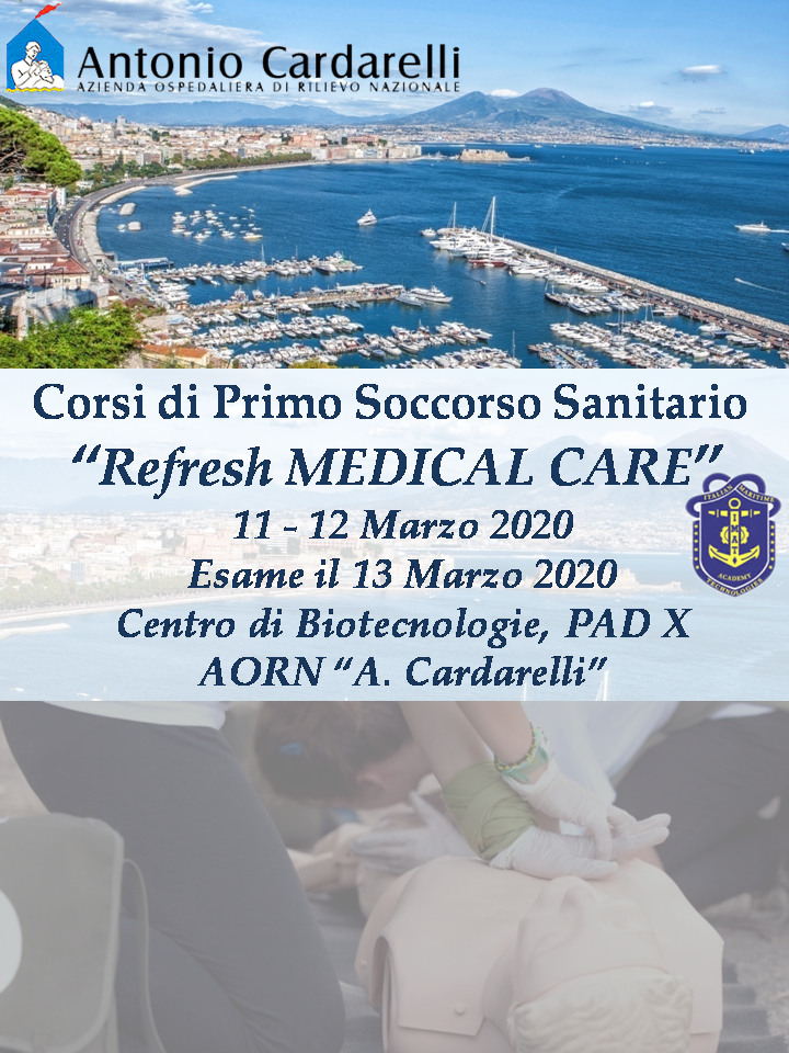 "Corsi di Primo Soccorso per Marittimi  ""Refresh Medical Care"""