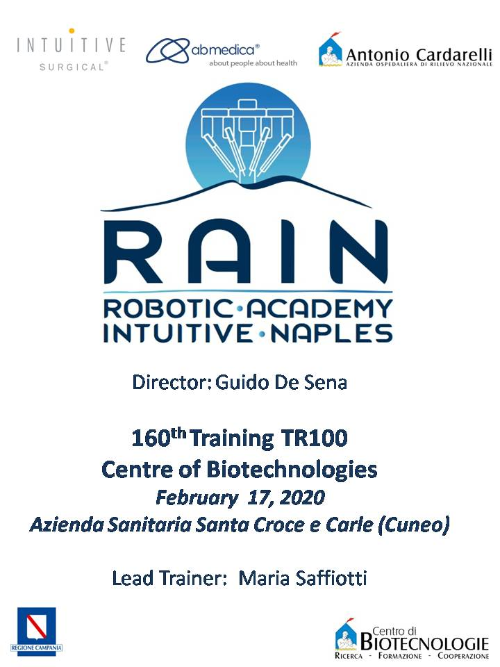 RAIN - Robotic Academy Intuitive Naples - 160th Training TR100