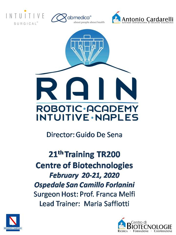 RAIN - Robotic Academy Intuitive Naples - 21th Training TR200