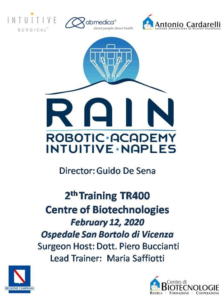 RAIN - Robotic Academy Intuitive Naples - 2nd Training TR400