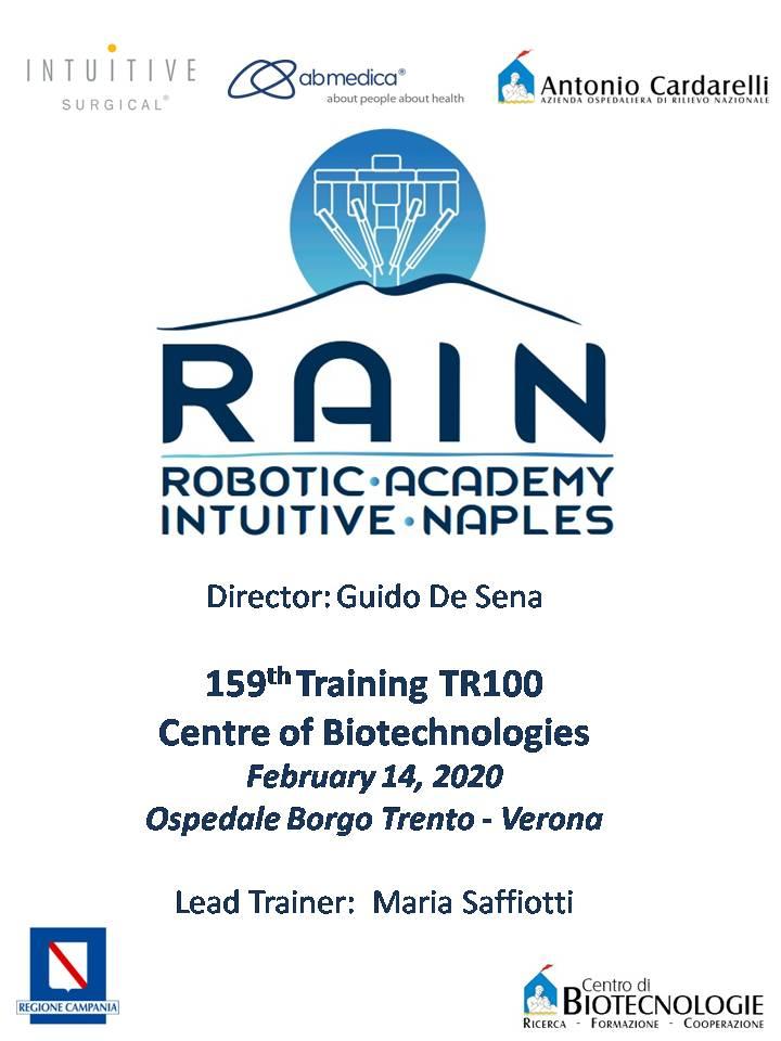 RAIN - Robotic Academy Intuitive Naples - 159th Training TR100