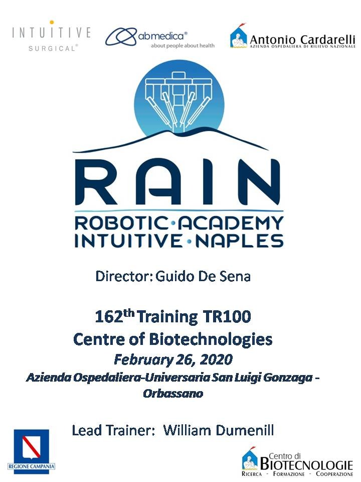 RAIN - Robotic Academy Intuitive Naples - 162th Training TR100