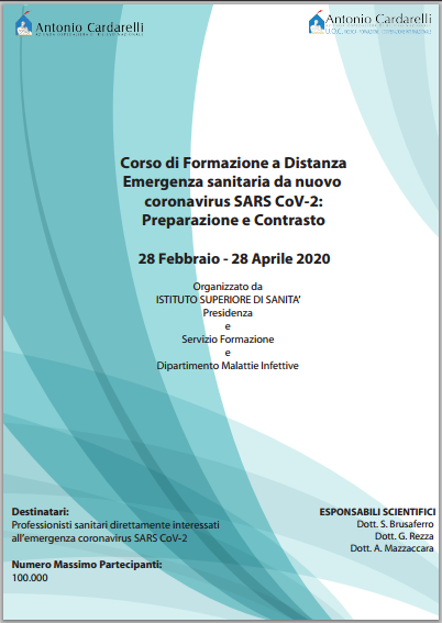 Corso FAD - Emergenza sanitaria da nuovo Coronavirus SARS CoV-2: preparazione e contrasto