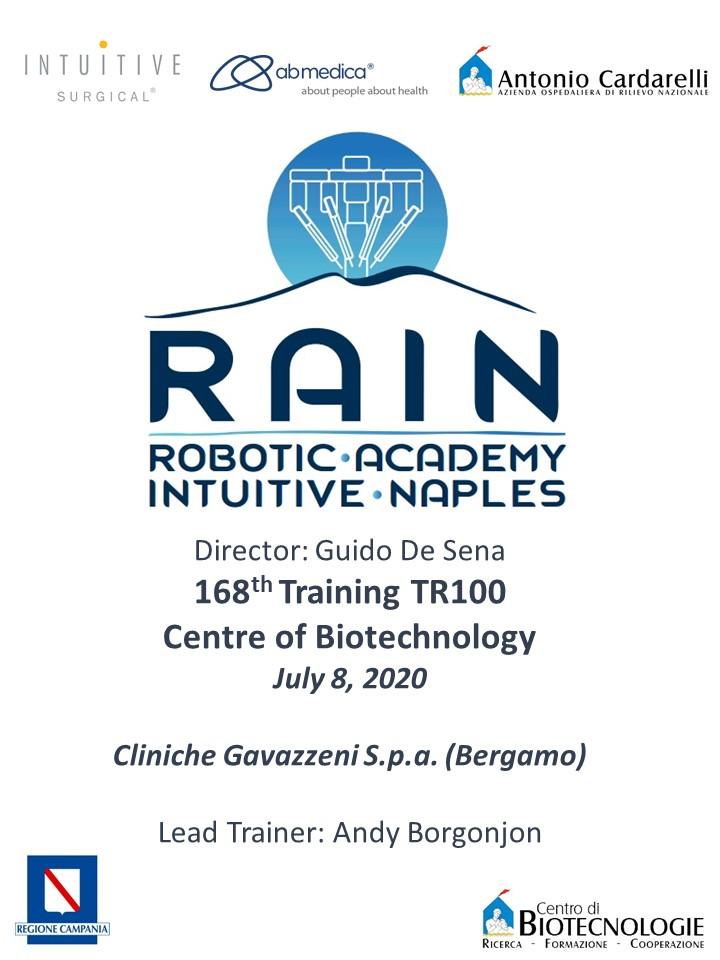 RAIN - Robotic Academy Intuitive Naples - 168th Training TR100