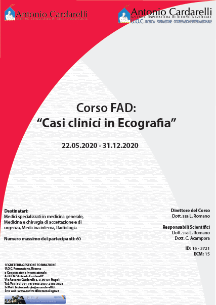 Corso FAD - Casi clinici in Ecografia