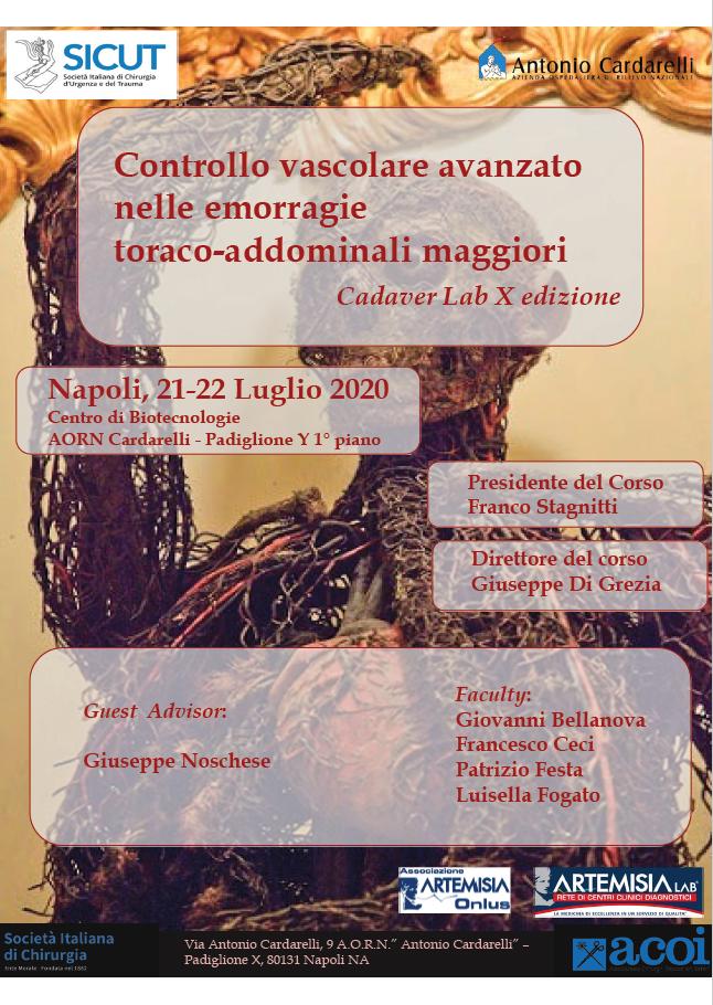 Controllo vascolare avanzato nelle emorragie toraco-addominali maggiori - Cadaver Lab X edizione