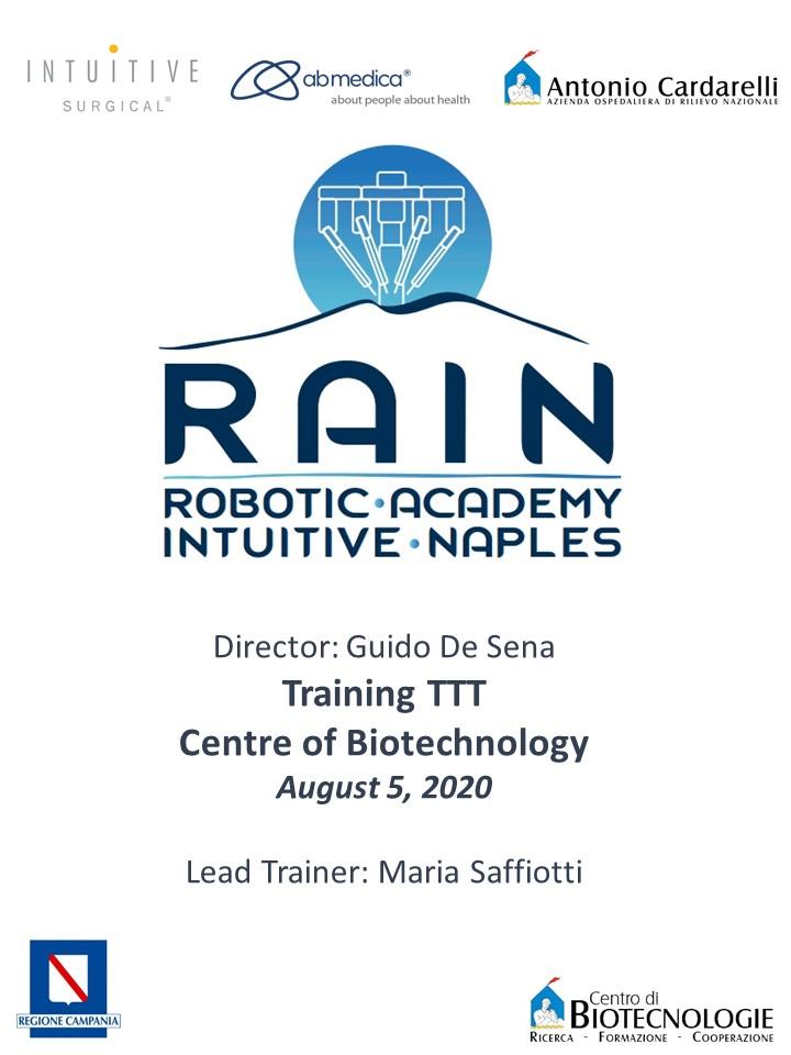 RAIN - Robotic Academy Intuitive Naples - Training TTT