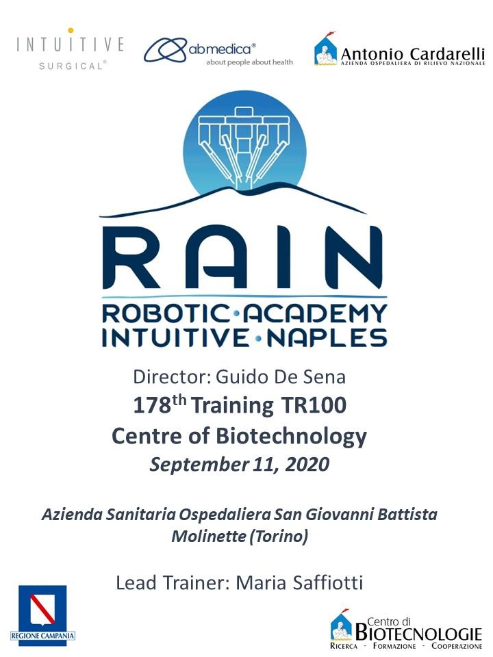 RAIN - Robotic Academy Intuitive Naples - 178th Training TR100