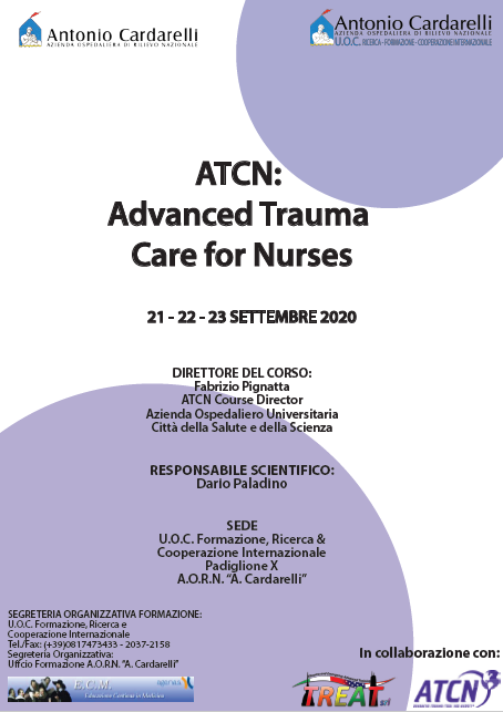 Corso RES - ATCN: Advanced Trauma Care for Nurses I Ed. - ISCRIZIONI CHIUSE -