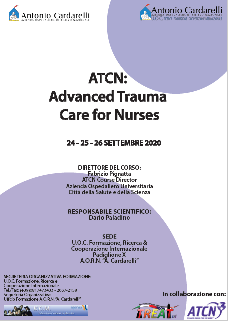 Corso RES - ATCN: Advanced Trauma Care for Nurses II Ed. - ISCRIZIONI CHIUSE -