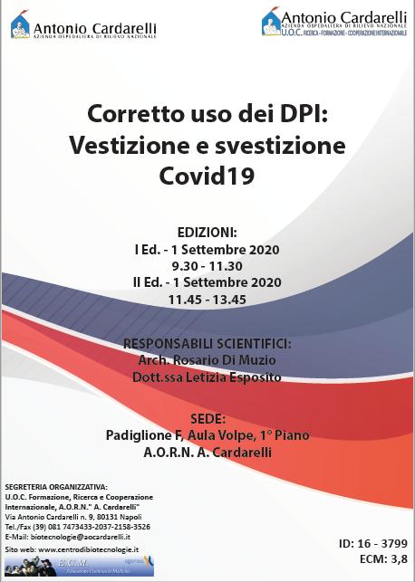 Corso RES - Corretto uso dei DPI: Vestizione e svestizione Covid19 - ISCRIZIONI CHIUSE -