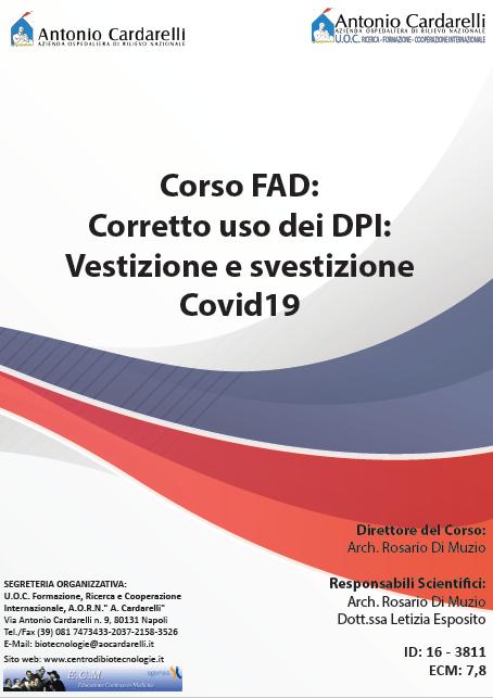 Corso FAD - Corretto uso dei DPI: Vestizione e svestizione Covid19