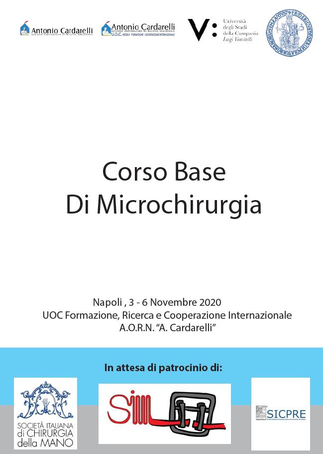 Corso Base di Microchirurgia - CORSO ANNULLATO E RIMANDATO A DATA DA DESTINARSI -
