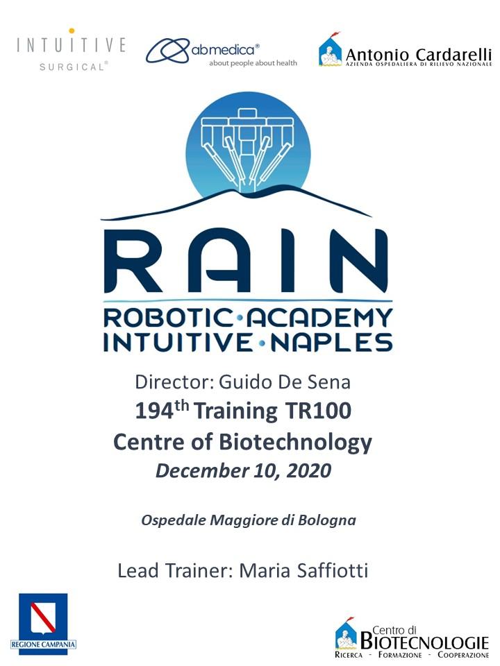 RAIN - Robotic Academy Intuitive Naples - 194th Training TR100