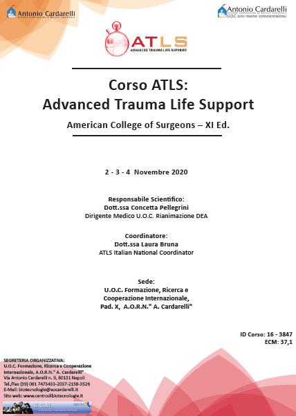 Corso RES - Corso ATLS: Advanced Trauma Life Support American College of Surgeons – XI Ed.  - CORSO ANNULLATO -