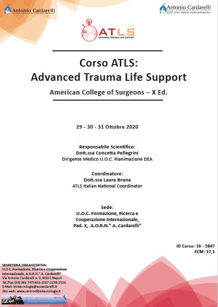 Corso RES - Corso ATLS: Advanced Trauma Life Support American College of Surgeons – X Ed. - CORSO ANNULLATO -