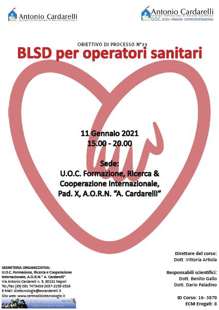 Corso RES - BLSD per Operatori Sanitari Ed. I - ISCRIZIONI CHIUSE -