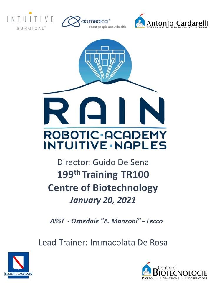 RAIN - Robotic Academy Intuitive Naples - 199th Training TR100