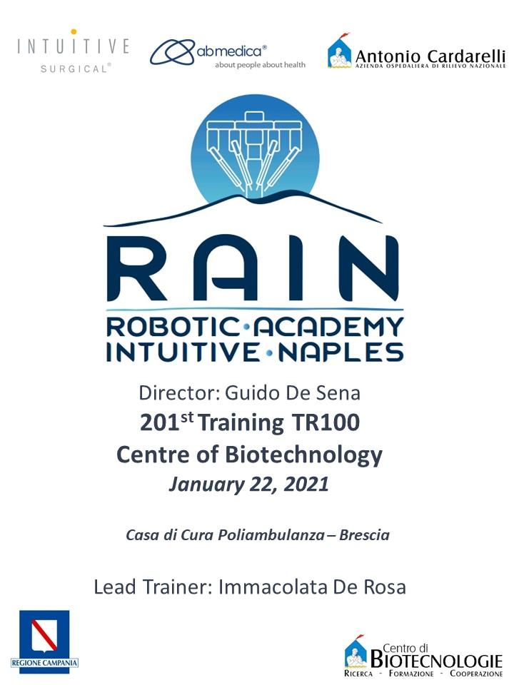 RAIN - Robotic Academy Intuitive Naples - 201st Training TR100