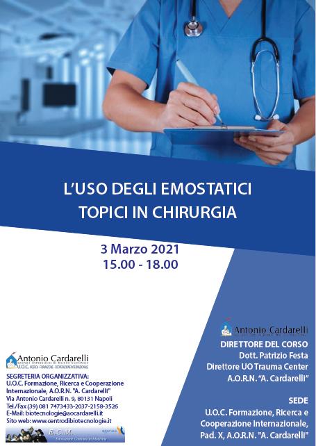 Corso RES - L'USO DEGLI EMOSTATICI TOPICI IN CHIRURGIA - ISCRIZIONI CHIUSE -