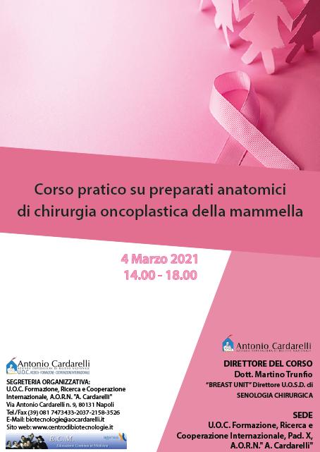 Corso RES - Corso pratico su preparati anatomici di chirurgia oncoplastica della mammella - ISCRIZIONI CHIUSE -