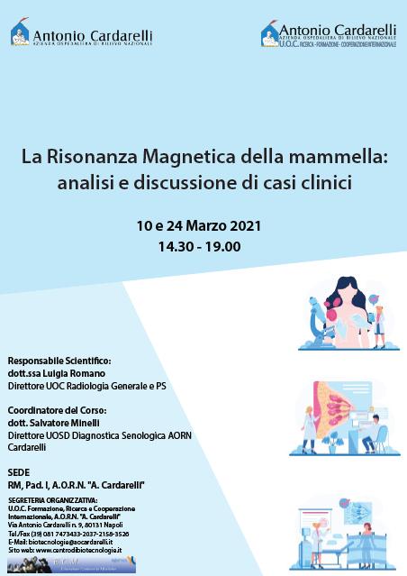 Corso RES - La Risonanza Magnetica della mammella: analisi e discussione di casi clinici - ISCRIZIONI CHIUSE -