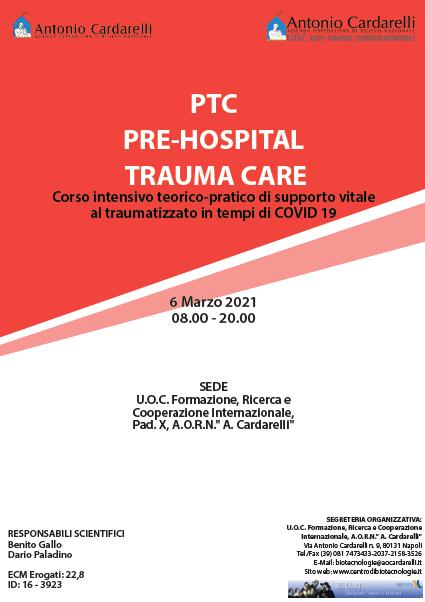 Corso RES - PTC: PRE-HOSPITAL TRAUMA CARE - ISCRIZIONI CHIUSE -