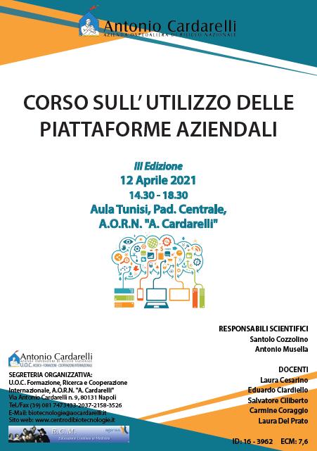Corso RES – CORSO SULL' UTILIZZO DELLE PIATTAFORME AZIENDALI III Ed. – ISCRIZIONI CHIUSE –