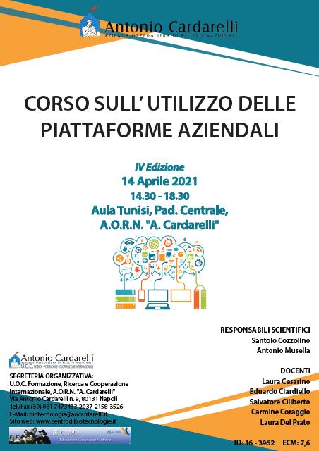 Corso RES – CORSO SULL' UTILIZZO DELLE PIATTAFORME AZIENDALI IV Ed. – ISCRIZIONI CHIUSE –