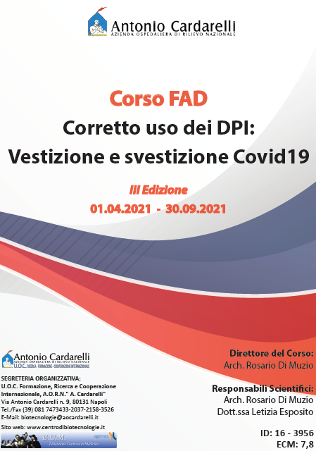 Corso FAD - Corretto uso dei DPI: Vestizione e svestizione Covid19 - III Ed.