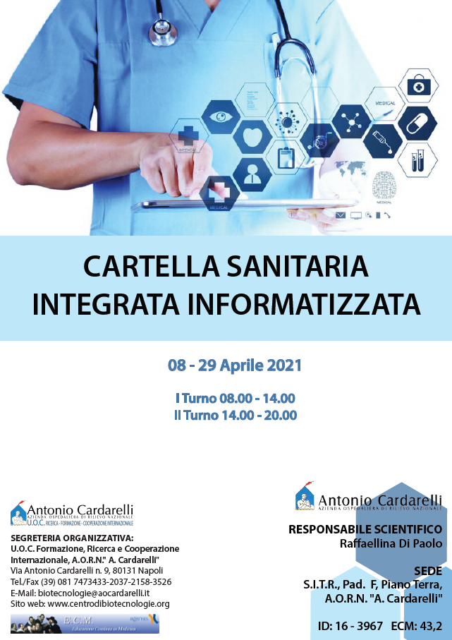 Corso FSC - CARTELLA SANITARIA INTEGRATA INFORMATIZZATA - ISCRIZIONI CHIUSE -