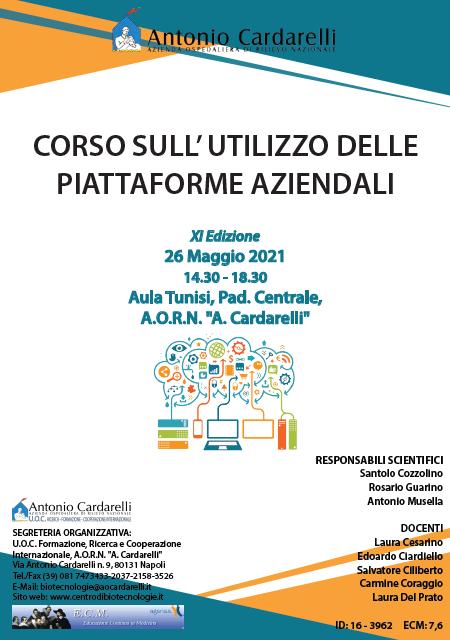 Corso RES – CORSO SULL' UTILIZZO DELLE PIATTAFORME AZIENDALI XI Ed. – ISCRIZIONI CHIUSE –