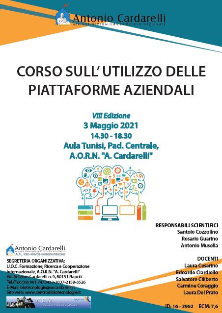 Corso RES – CORSO SULL' UTILIZZO DELLE PIATTAFORME AZIENDALI VIII Ed. – ISCRIZIONI CHIUSE –