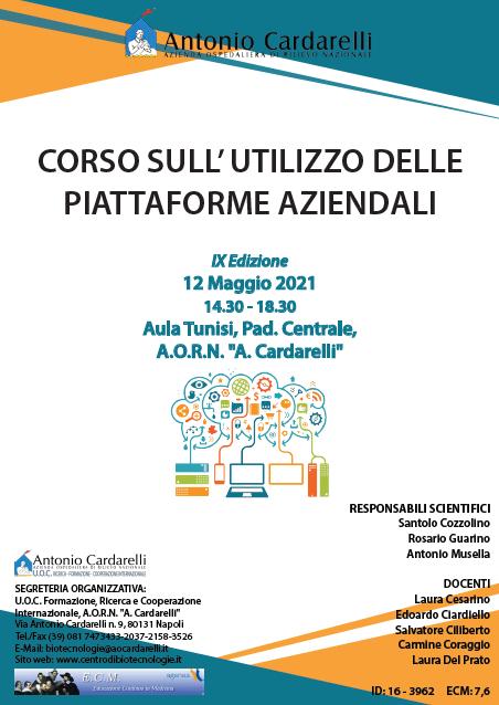Corso RES – CORSO SULL' UTILIZZO DELLE PIATTAFORME AZIENDALI IX Ed. – ISCRIZIONI CHIUSE –