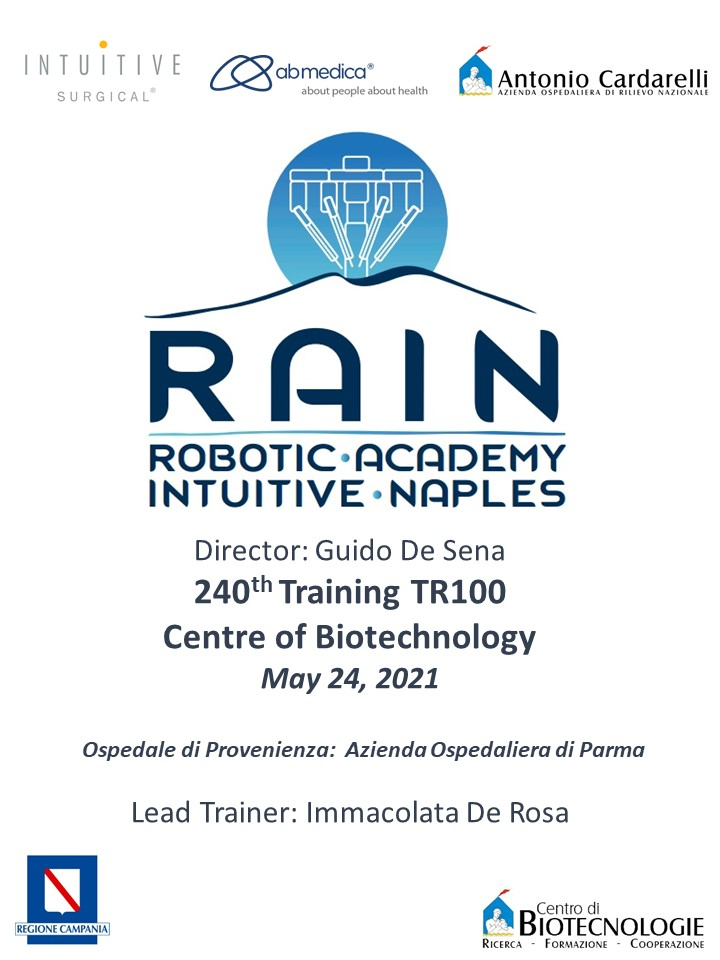 RAIN - Robotic Academy Intuitive Naples - 240th Training TR100