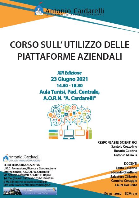 Corso RES - CORSO SULL' UTILIZZO DELLE PIATTAFORME AZIENDALI XIII Ed. - ISCRIZIONI CHIUSE -