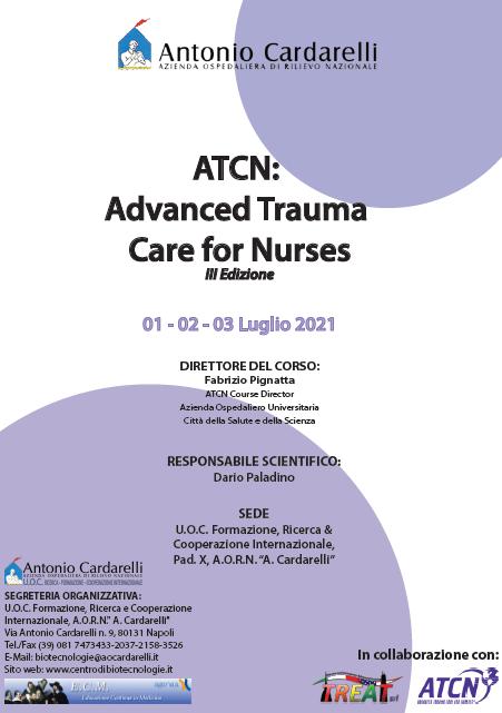Corso RES - ATCN: Advanced Trauma Care for Nurses III Ed. - ISCRIZIONI CHIUSE -
