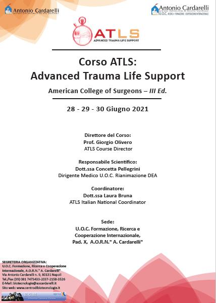 Corso RES - Corso ATLS: Advanced Trauma Life Support - American College of Surgeons - III Ed. - ISCRIZIONI CHIUSE -