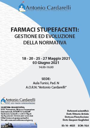 Corso RES - FARMACI STUPEFACENTI: GESTIONE ED EVOLUZIONE DELLA NORMATIVA - ISCRIZIONI CHIUSE -