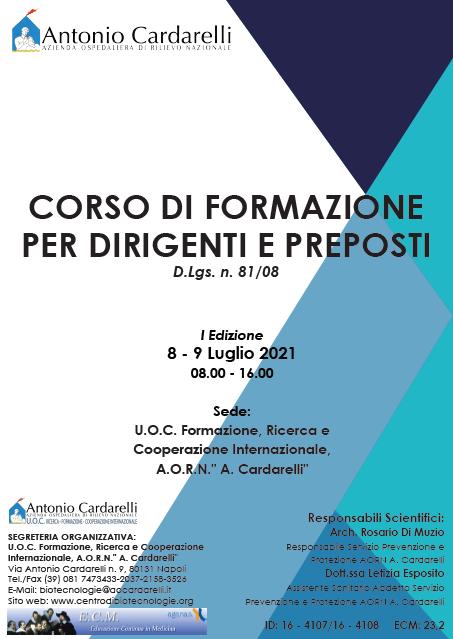 Corso RES - CORSO DI FORMAZIONE PER DIRIGENTI E PREPOSTI D.Lgs. n. 81/08 - I Edizione - ANNULLATO -