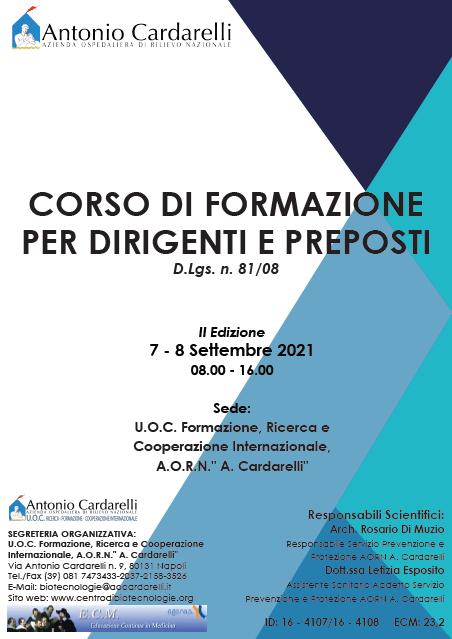 Corso RES - CORSO DI FORMAZIONE PER DIRIGENTI E PREPOSTI D.Lgs. n. 81/08 - II Edizione - ISCRIZIONI CHIUSE -