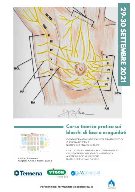 EVENTO - Corso teorico pratico sui blocchi di fascia ecoguidati - ISCRIZIONI CHIUSE -