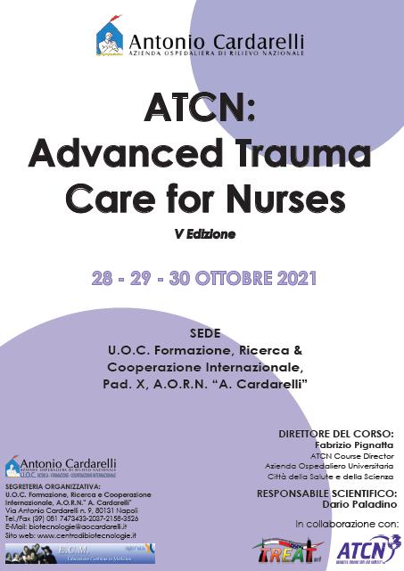 Corso RES – ATCN: Advanced Trauma Care for Nurses V Ed. – ISCRIZIONI CHIUSE -