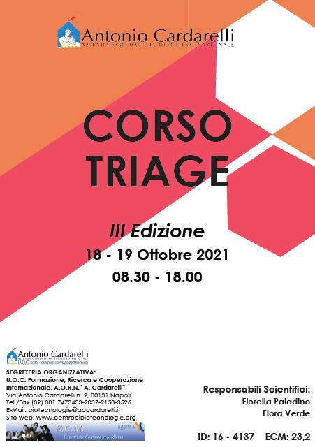 Corso RES - CORSO TRIAGE - III Ed. - ISCRIZIONI CHIUSE -