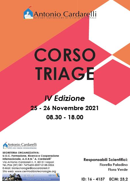 Corso RES - CORSO TRIAGE - IV Ed. - ISCRIZIONI CHIUSE -